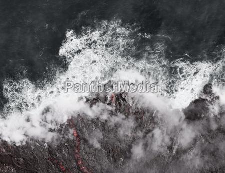 kilauea lava enters the ocean expanding