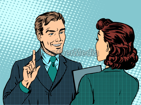 business treffen zwischen chef und untergebenen