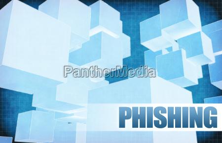 phishing on futuristic abstract