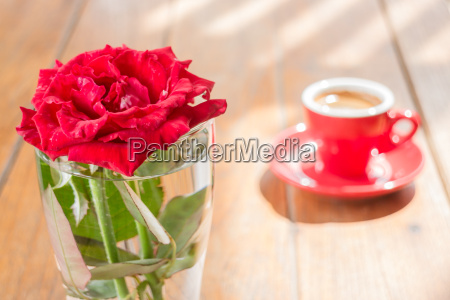 beautiful table decorated with coffee and