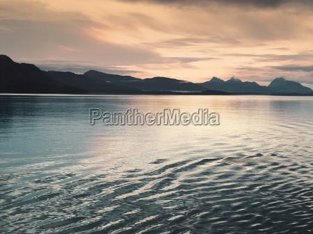 sunset at glacier bay alaska