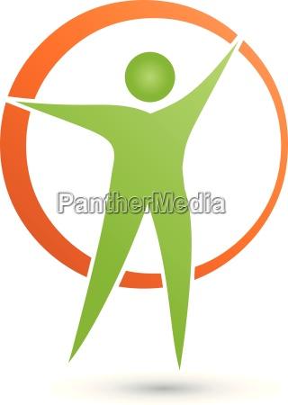 mensch und kreis logo person vektor