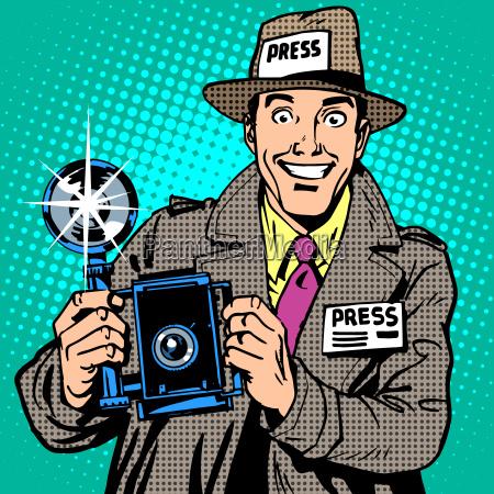 fotograf paparazzi bei der arbeit pressemedien