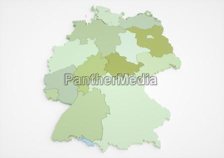deutschland mit bundeslaender 45 megapixel