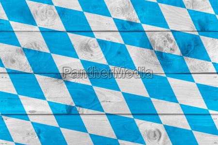bandera bavara en tablas de madera