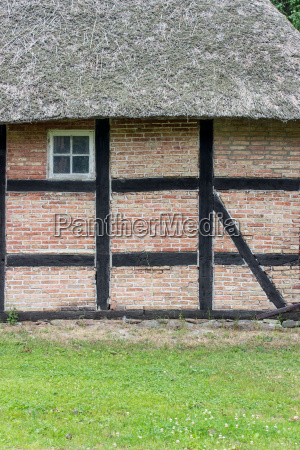 detail of an old half timbered