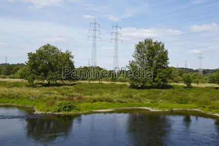 hattingen germany landscape with river
