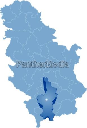 karte von serbien unterteilung kosovo bezirk