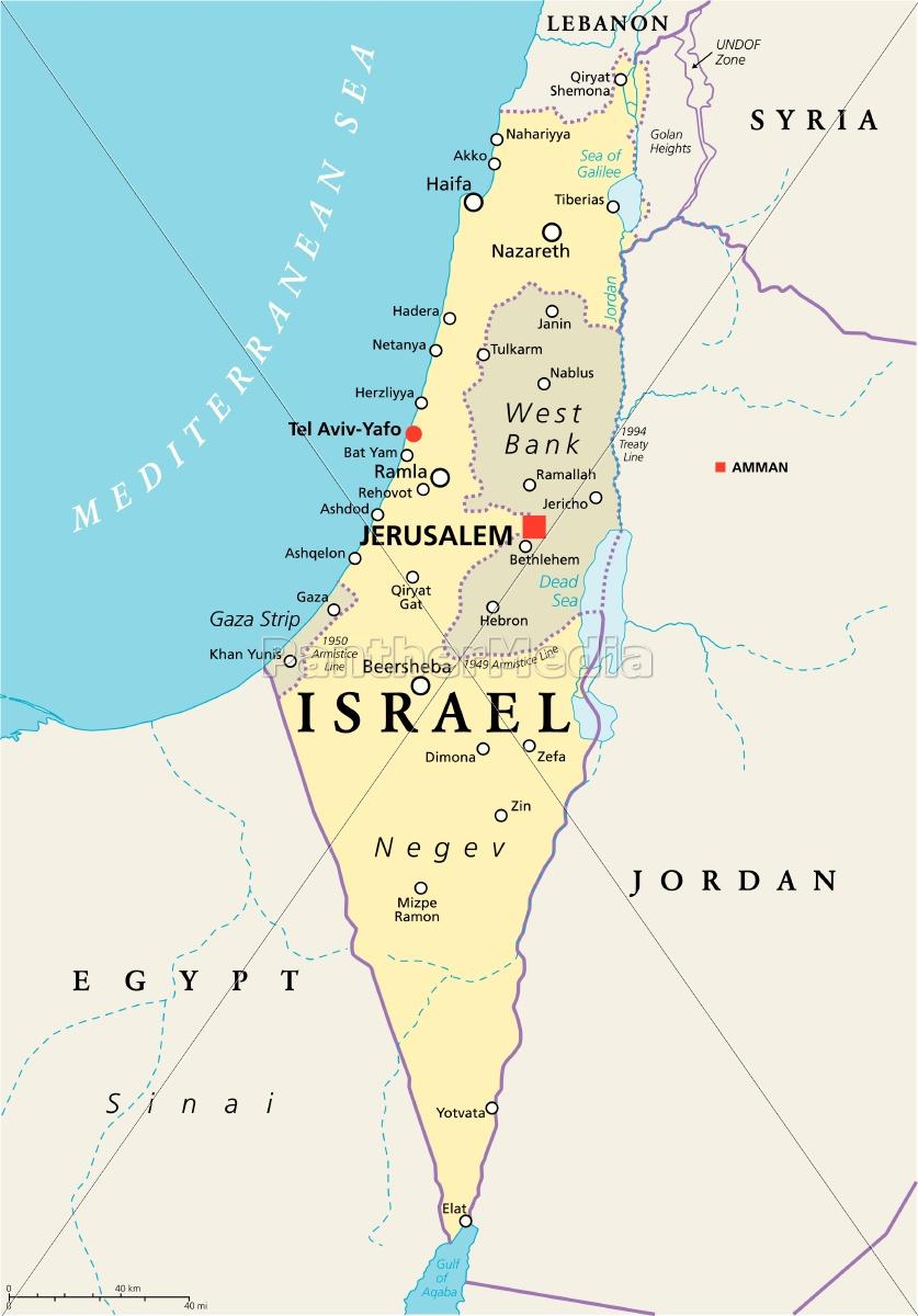 israel political map - Lizenzfreies Bild - #14757289 - Bildagentur ...