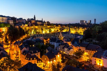 luxemburg stadt der innenstadt von der