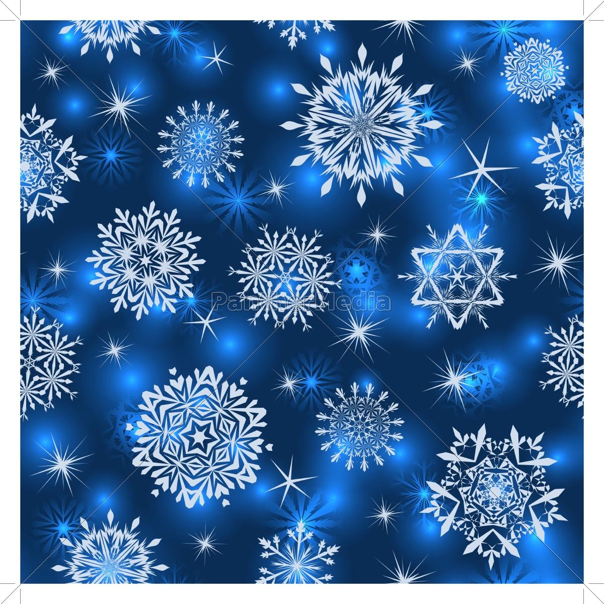 Fototapete Nahtlose Schneeflocken Muster 11