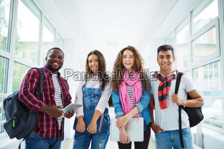 multi ethnische studenten