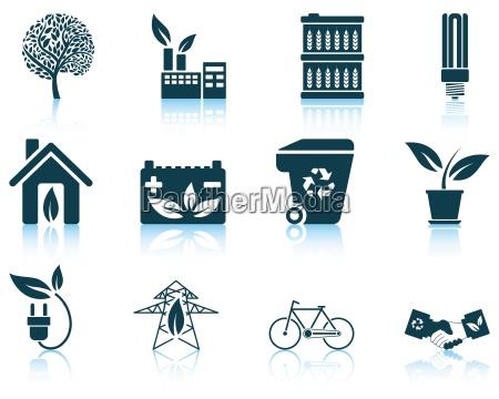 set von oekologischen symbol