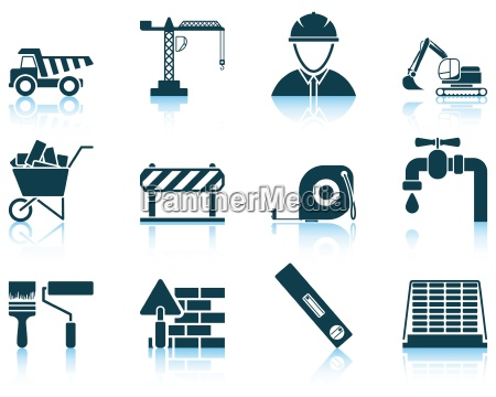 set of construction icon