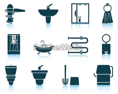 set badezimmer symbol