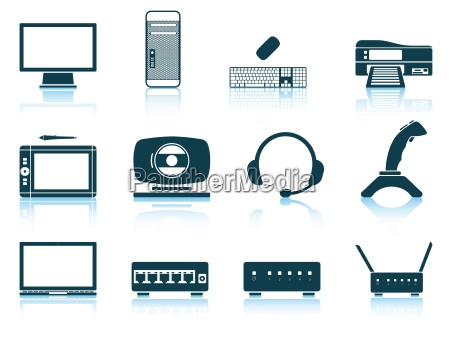 set of hardware icons