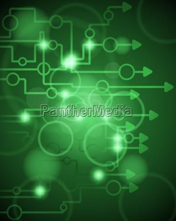 technologischer gruener hintergrund