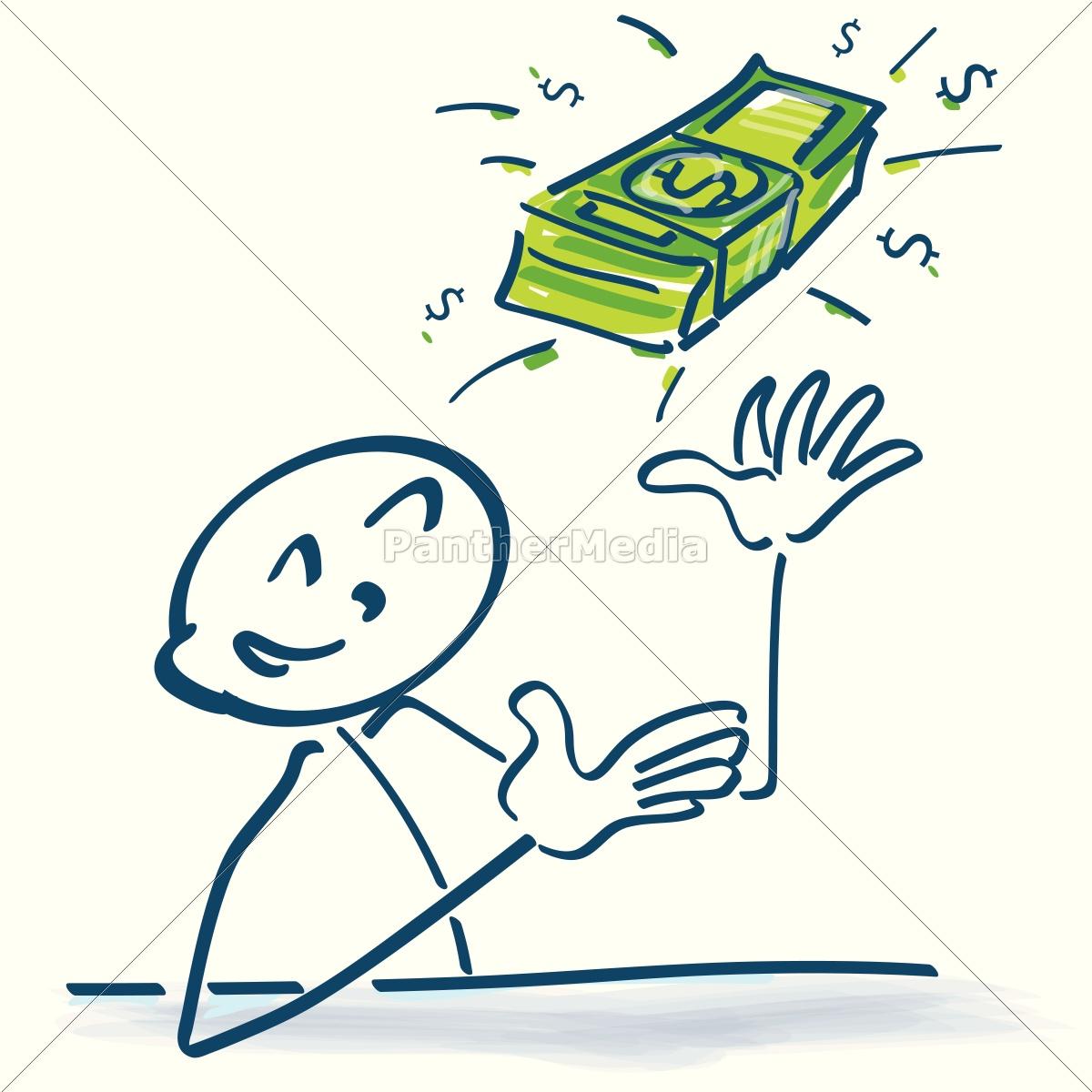 Strichmännchen mit Dollarscheinen - Stockfoto - #14772543 ...