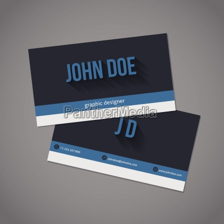 dark and light stripes business card