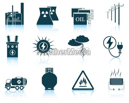 set energie symbole