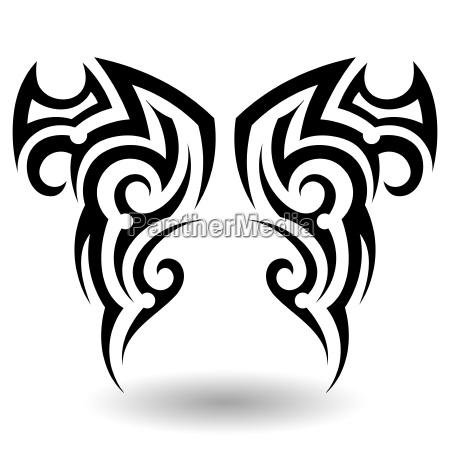 hand gezeichnet tribal tattoo