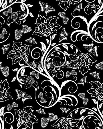 nahtlose floral verzierten
