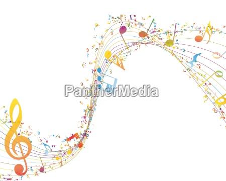 musikalischer schluessel mit noten reihe