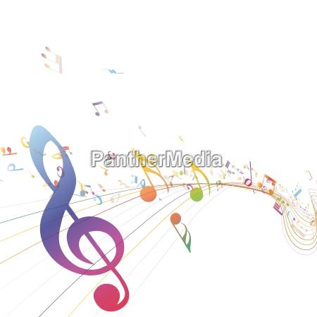 musical key mit noten reihe