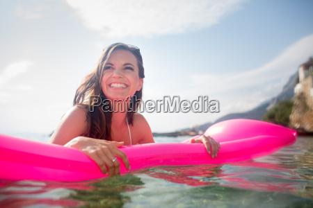 pretty young woman enjoying a day