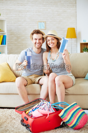 couple with tickets