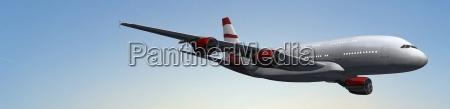 modernes passagierflugzeug im flug