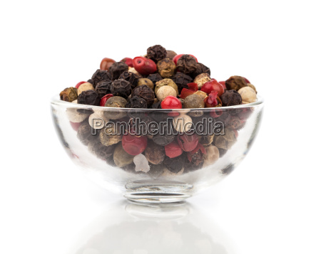 pepper in a glass bowl