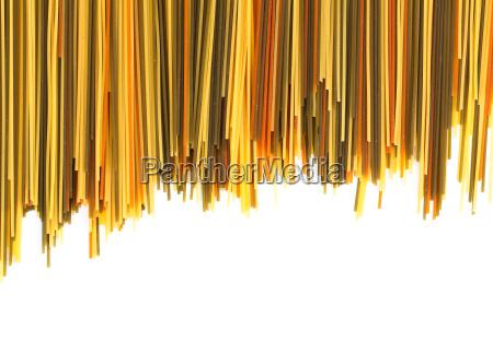 spaghetti on white background