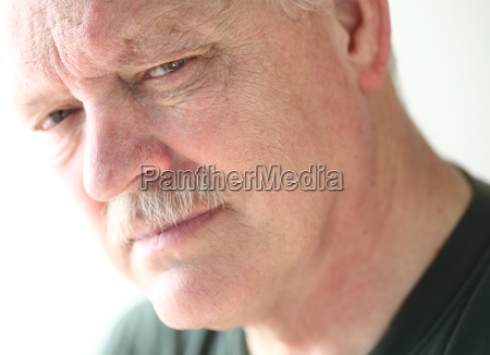 mature man with serious look
