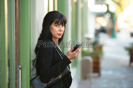 beautiful woman with her cellphone