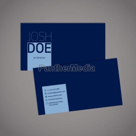 simplistic blue business card template