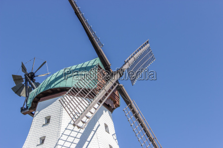 windmill with a cloudless sky