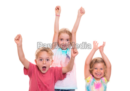 funny jubilating children