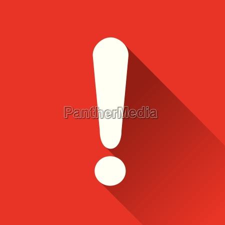 warning flat design icon