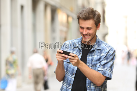 man playing game with a smart