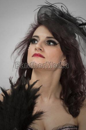 beauty portrait in burlesquestil