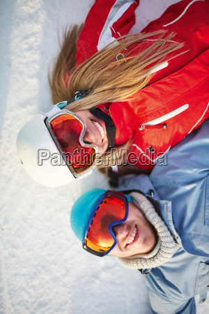 couple on snow