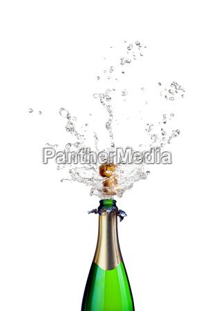 knallenden champagner