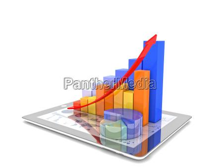 tablette und grafik