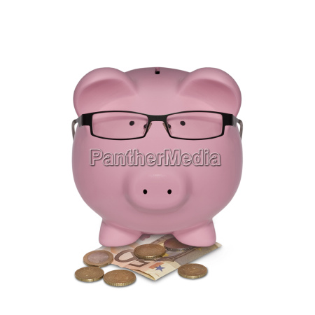 manager piggy bank with money