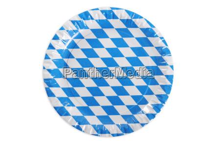 bavarian paper plate