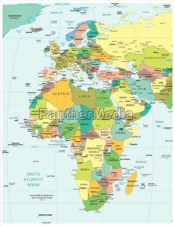 afrika und europa region karte