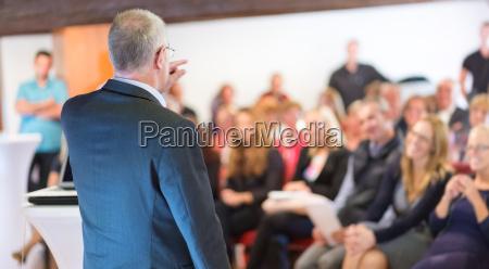 businessman making a business presentation