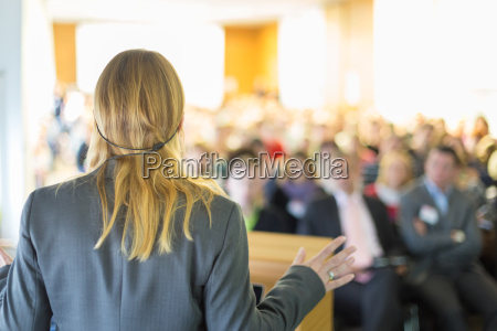 speaker at business conference and presentation