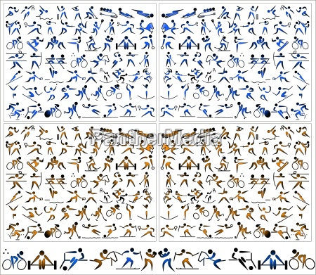 piktogramm icons grafik sportaktivitaeten